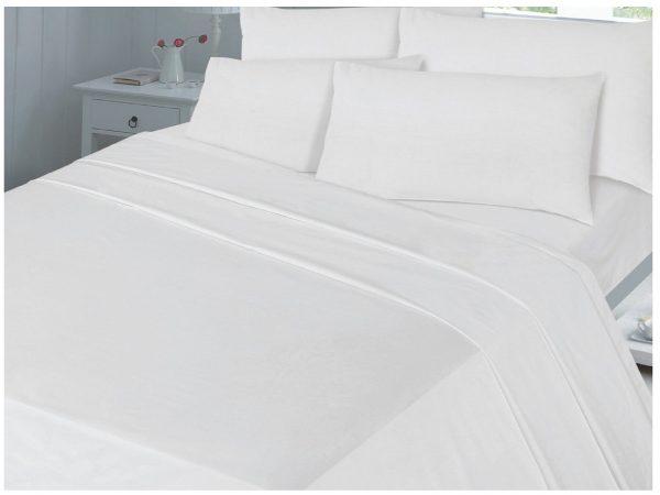 Hotel Egyptian Cotton Flat Bed Sheet White